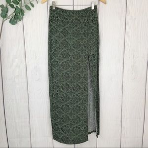 Front Slit Maxi Skirt